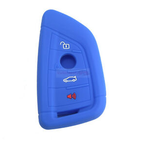 Fit BMW X1 X2 X3 X5 X6 4 Buttons Remote Smart Key Fob Silicone Skin Case Cover