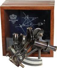 G3084: Edler Britischer Spiegel Sextant in Holzbox, Kalvin & Haghes London 1917