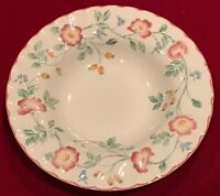 "Churchill Staffordshire England BRIAR ROSE 8 7/8"" Rimmed Soup Bowls Lot of 7 EUC"