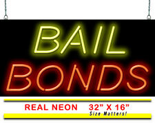 "Bail Bonds Neon Sign | Jantec | 32"" x 16"" 