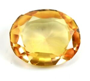 6.65Ct Natural Ceylon Padparadscha  Yellow Oval Cut Loose Gemstone Certified 497