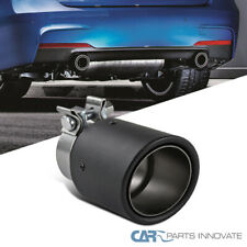 """2.5"""" Inlet, 3.5"""" Dry Carbon Fiber Outlet Stainless Steel Racing Exhaust Tip"""