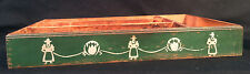 Pennsylvania Dutch Utility Utensil Tray Finger Jointed Hand Painted Wood Wooden