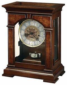 "630-266 ""EMPORIA"" MECHANICAL HOWARD MILLER MANTLE CLOCK -CHERRY BORDEAUX FINISH"