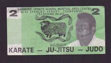 Brisbane Sports School Martial Arts Centre $2 note Karate Judo Ju-Jitsu K-759