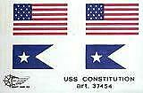 """Mantua Model 37454 Sheet of Cloth Flags for U.S.S. Constitution - ( 3 x 6"""")"""