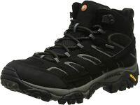 Merrell Men's Moab 2 Mid Gtx Hiking Boot, Black, Size 9.0 2hyH