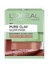Loreal Pure Clay Glow Mask BRIGHTENS + EXFOLIATES - 3 PURE CLAYS + RED ALGAE