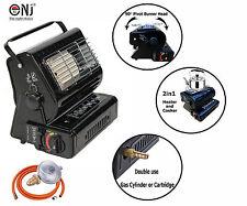 2in1 Portable Gas Heater Cooker Camping Caravan Outdoor Fishing LPG Home NEW