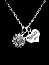 Daisy Sunflower Necklace Flower Sister Nature Sisters Mother's Day Gift Jewelry