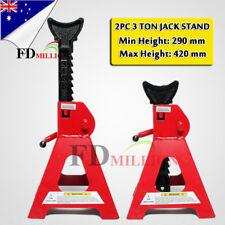 2X 3 Ton 3T Car Truck Jack Stand Ratchet Adjustable Lift Hoist Heavy Duty Steel