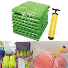 15PCS Space Saving Vacuum Storage Seal Bag Clothes Compressed Organizer + Pump