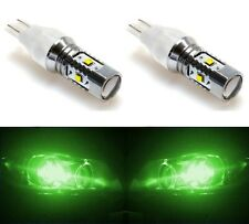 LED Light 30W 921 Green Two Bulbs Back Up Reverse Replacement Stock Lamp Show
