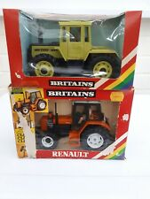 BRITAINS FARM TOYS 9525 MB TRAC 1500 , 9518 RENAULT 145-14 TRACTORS NEW IN BOX