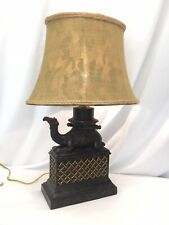 Camel table lamp with shade