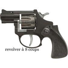 Pistolet Revolver Policier 8 coups Déguisement Homme Costume Police Gangster