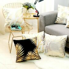Throw Pillow Case Bronzing Gold Foil Printed Cushion Cover Sofa Home Decoration