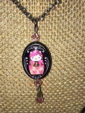Tarina Tarantino Hello Kitty Russian Nesting Doll Pink Head Necklace