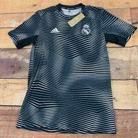 Real Madrid FC Soccer 2019 2020 Adidas Parley Pre Match Jersey Blue XL Preshi J1