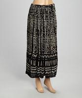 Le Mieux Casual Black/White Southwest Aztec Cotton Skirt, Missy, Petite, Plus