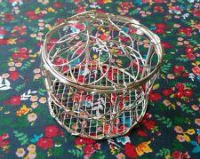 BN silver wire metal mesh round quirky trinket box. Gift Mum Gran Nana
