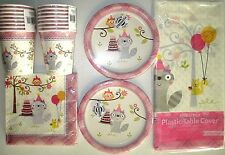 HAPPI WOODLAND Girl - Birthday Party Supply Set Pack Kit for 16