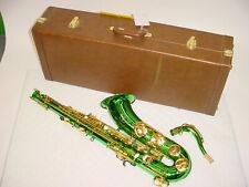 Monique Bb Tenor Saxophone sax - Green Finish with Gold Keys