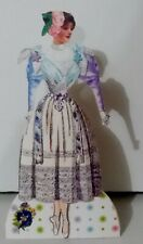 Jointed Dancing Lady Doll of paper, by Judy M Johnson (#37) One of a kind