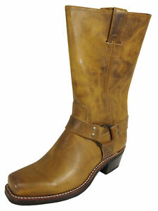 $388 Frye Womens Harness 12R Tall Pull On Riding Boots, Dark Brown, US 9.5