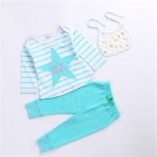 AJia Baby Girls Pajamas Girls Cotton Top + Soft Pants Suit Girls Sleepwear 70