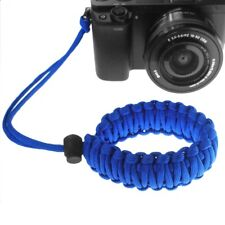 Camera Adjustable Wrist Lanyard Strap Grip Weave Cord For Paracord DSLR Blue x