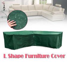 ☆ Waterproof Rattan Furniture Sofa Cover Corner Outdoor Garden L Shape Protector