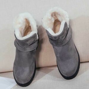Fashion Women Winter Warm Suede Winter High Top Snow Boots Fur Lining Boot Shoes