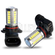 2 X H10 LED brillante luz Antiniebla Delantera 31w 33 SMD 5630SMD Lente Con Bombillas Blanco