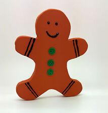 Figura De Madera Pintada De Pan De Jengibre Hombre Navidad Decoración Shabby Chic Casa