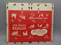 Vintage 1939 Unused Cardboard Chicken Egg Carton Dozen Bloomer Wisconsin Kitchen