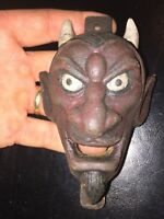 Devil Cast Iron Bottle Opener Ole Masters Brewery Antique Beer Style Vg