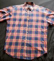 Ralph Lauren Blake Mens Oragne Plaid Size M Button Down Shirt