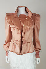 *YVES SAINT LAURENT* RIVE GAUCHE TOM FORD 2004 OYSTER SILK JACKET (44)