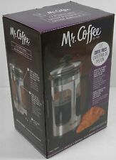NEW! MR. COFFEE FRENCH PRESS 1.2QT STAINLESS DAILY BREW COFFEEMAKER