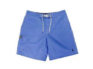 Polo Ralph Lauren Swimwear Men's Blue Trunks Board Shorts Size M *FLAWS*
