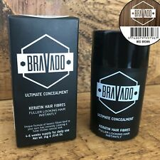 Bravado Keratin 14g Thickening Hair Fibres, Hair Lose Treatment (Medium Brown)