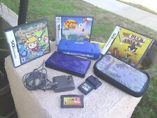 Nintendo DS Lite Cobalt and Black Handheld System With 3 games and more!!