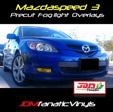 07-09 Mazda 3 SPEED Fog light JDM Yellow Overlays TINT Precut wrap