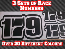 3 Sets Pro Go Kart Race Numbers Vinyl Sticker Decals Trials Dirt Bike D5 TKM