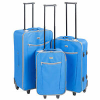 3 x Penn Lightweight Trolley Wheel Suitcase Luggage Travel Baggage Bag Cases Set
