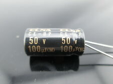 10pcs Elna Capacitors RBD 100uf 50V Audio Series Bi Polar Capacitors