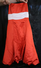 ALFRED ANGELO DRESS GOWN SIZE 10 ORANGE  FORMAL WEDDING  PROM