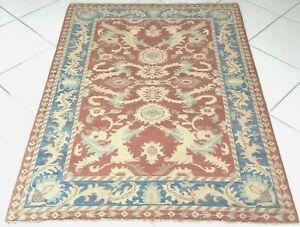 Afghan Teppich Ziegler Handgeknüpft Orient Rot Blau Rug Carpet Tapis Alfombra