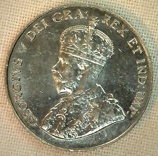 1931 Canadian Imperial Crowned Two Leaf Canadian Nickel 5 Cents Coin AU